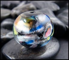 Glass Lampwork Bead - Old Moon by andromeda