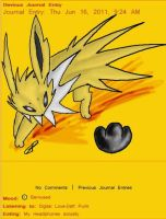 Jolteon Journal Skin by AbyssinChaos