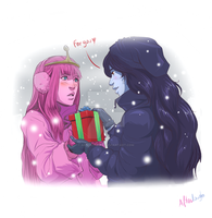 Bubbline - Christmas present by Afterlaughs