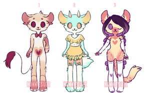 experimental anthro adopts! [CLOSED] by hunniebuzz