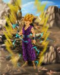Fan art DBZ : Gohan ssj2 by Crakower