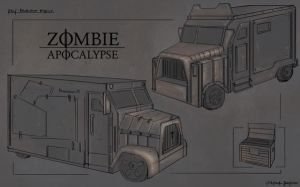 Post apocaliptyc truck by Padrre