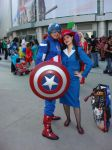 Captain America and Peggy Carter by cablex452