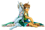 MLF Fever_ Elsa and Anna PNG by NamyGaga
