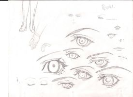 Practice Sketch Eyes by CuttingxClouds