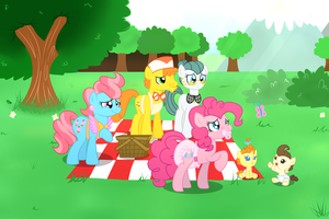 Family Picnic by Hourglass-Sands