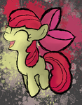 Applebloom fighting is magic by GhostParadigm