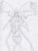 EternalAngemon Yggdrasil Mode Sketch/Boceto by AkaRyuusei