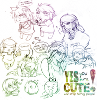 Doodle: Yes, You Are Cute by cauxiq