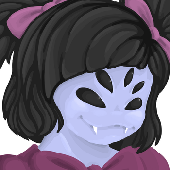 Muffet digital painting (wip..?) by sharklover135