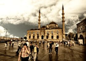 Blue Mosque and Eminonu Square by WhiteWay