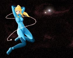 Zero Suit Samus Wallpaper by Kevichan