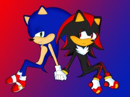 Sonic- Sonic+Shadow by Garfield141992