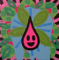 All I see is pink drops by popartmonkey