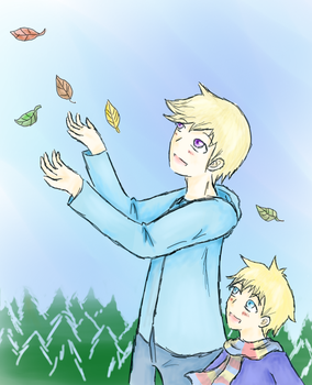 APH-Autumn leaves' Glory by Strawberry-Itchiko