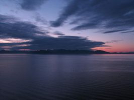 4 am on Alaska Inside Passage by CorazondeDios
