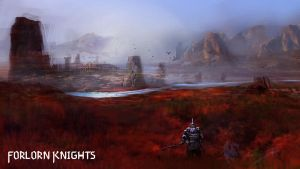 Forlorn Knights - conceptual painting by Brollonks