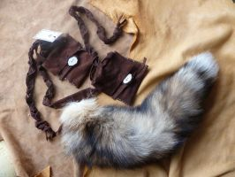 Cross fox belt pouch tail by lupagreenwolf