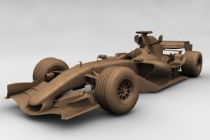 Mclaren MP4-20b - 3D Clay by motionmedia