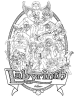 Labyrinth Poster: Black and White by babewithepower