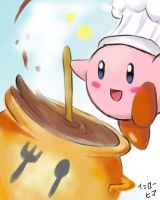 Final Smash02:Cook Kirby by yellowhima