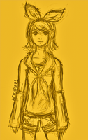 Kagamine Rin sketch by acidifiers