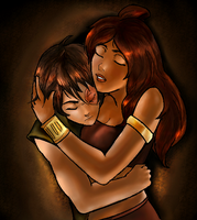 Zuko and Katara Embrace by Englehart