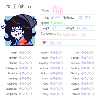 Ale - Oc Card by Mangnoot