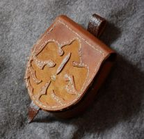 Leather Pouch with bordering by Tharrk