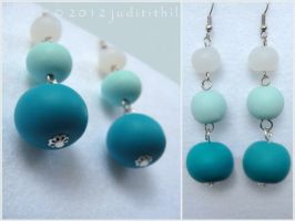 Polymer Clay- Bead Earrings by juditithil