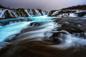 Blue cascades by porbital