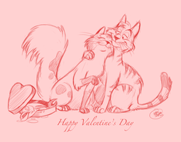 Valentine's Day Doodle by SharpDressedReptile