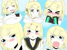 The Many Faces of Rinny Finished! by Rin-the-orangemaster