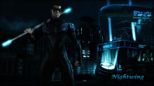 Nightwing (Dick Grayson) Wallpaper (Update) by BatmanInc