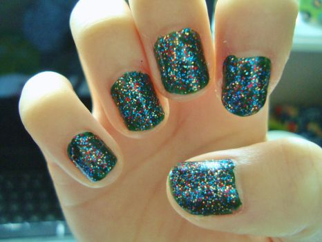 2014 New Year nails by luminousleopard