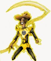 Yellow Lantern Scarecrow by hansolo106