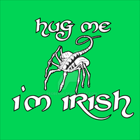 St. Patrick's Day Facehugger Shirt Design by Pegbeard