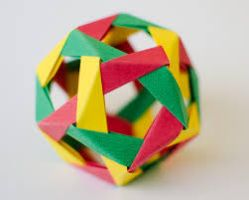 My latest origami! 9 square pieces of paper by KieronC11