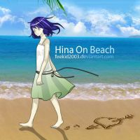 Hinata On Beach by firekid2003