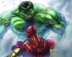 Colors on Hulk Vs. Iron Man by Likodemus