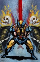 Quick Wolvie Ghost Rider Wacom by Sapoman