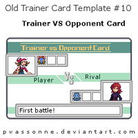 Old Trainer Card Template 10 by pwassonne