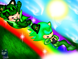 .:Rainbow of Green:. -Contest Entry- by VideoGameQueen64