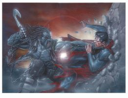 Lobo vs Superman by andrema