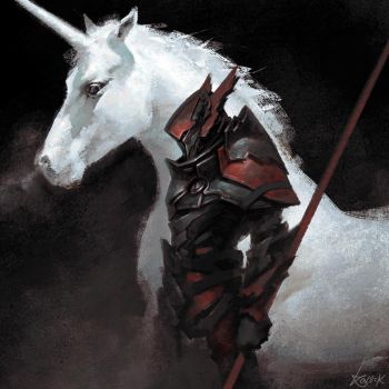 The Unicorn and the Dragon by Koveck