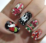 Christmas Sweater Nail Art by MadamLuck
