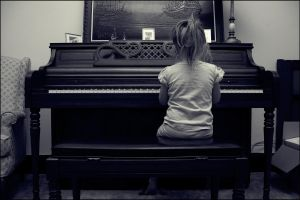 Playing the Piano by LovelyBPhotography