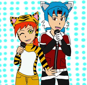 Tora And Twitch  by BlazeRunner16