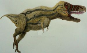 Young Tarbosaurus. by Frank-Lode