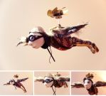 Steampunk flying man by SRKminiature